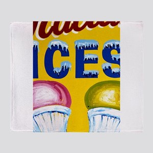 Old Signs: Ices! Throw Blanket