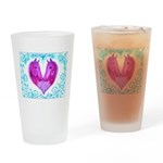 Curly Victoria Purple Drinking Glass