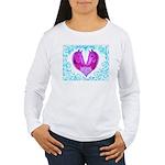 Curly Victoria Purple Long Sleeve T-Shirt
