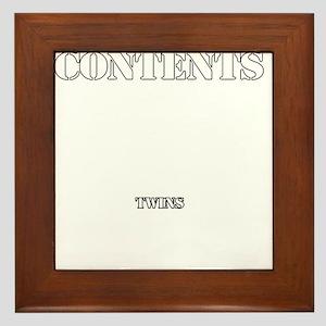 Contents Twins Framed Tile