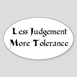 Tolerance Oval Sticker