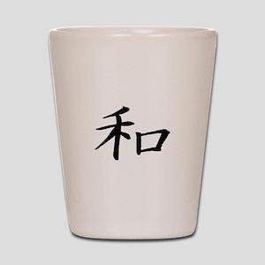 Peace Kanji Shot Glass