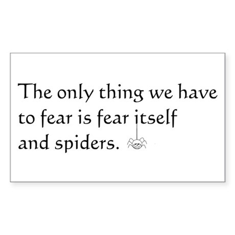 Fear and Spiders Sticker