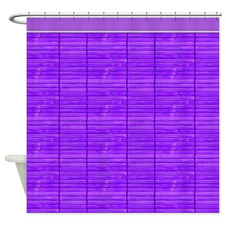 Purple Wooden Slat Blinds Shower Curtain