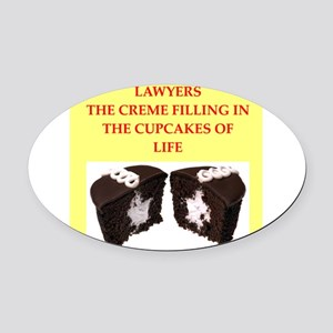 lawyer Oval Car Magnet