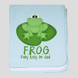 F.R.O.G. baby blanket