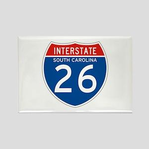 Interstate 26 - SC Rectangle Magnet