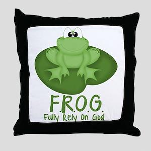 F.R.O.G. Throw Pillow