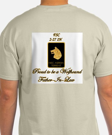 Proud Wolfhound Father-in-law-Sgt Ash Grey T-Shirt