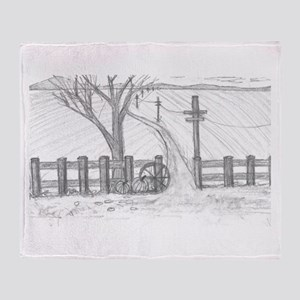 country road Throw Blanket