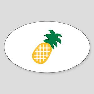 Pineapple fruit Sticker (Oval)