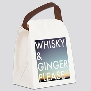 whisky and ginger, please Canvas Lunch Bag