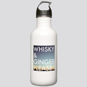 whisky and ginger, please Water Bottle