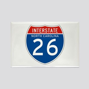Interstate 26 - NC Rectangle Magnet