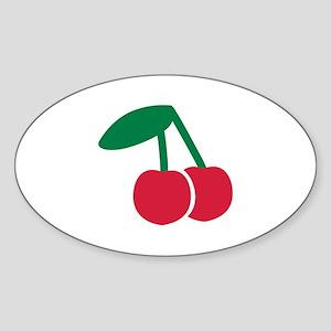 Cherry fruit Sticker (Oval)