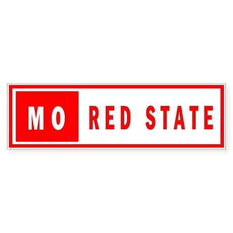 Red State - Missouri Bumper Sticker