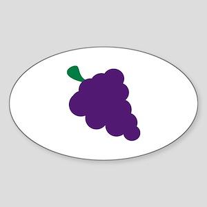 Grapes Sticker (Oval)