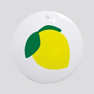 Lemon Ornament (Round)