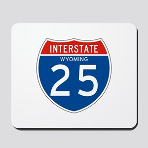 Interstate 25 - WY Mousepad