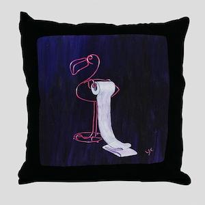 Flamingo TP Holder Throw Pillow