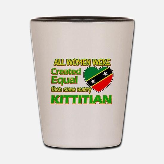 kittitian flag designs Shot Glass