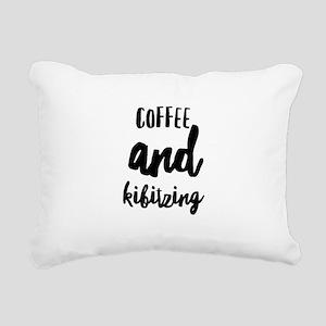 Coffee and Kibitzing Rectangular Canvas Pillow