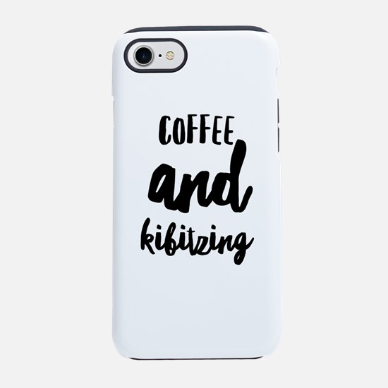 Coffee and Kibitzing iPhone 7 Tough Case