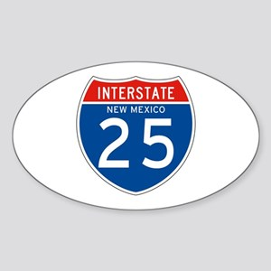 Interstate 25 - NM Oval Sticker