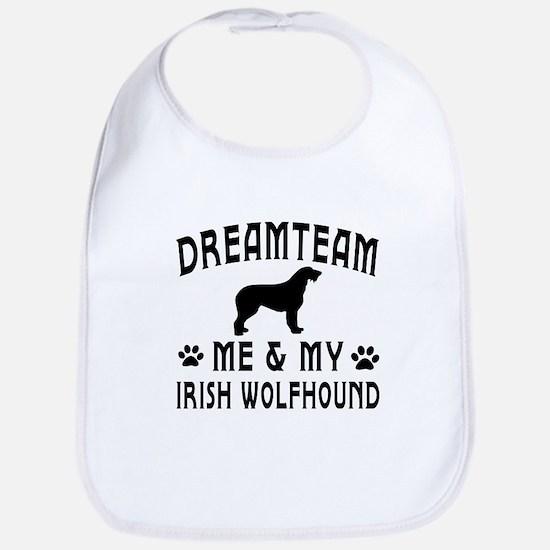 Irish Wolfhound Dog Designs Bib