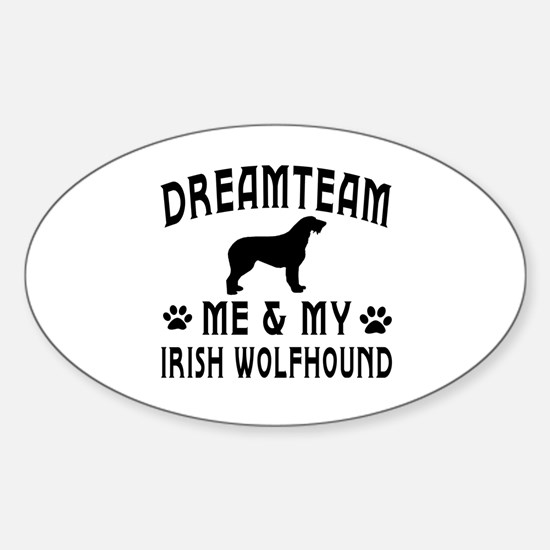 Irish Wolfhound Dog Designs Sticker (Oval)