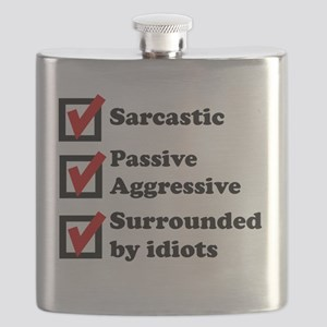 Surrounded By Idiots Flask