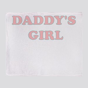 DADDYS GIRL Throw Blanket