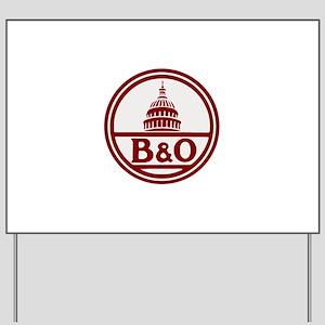 B&O railroad design Yard Sign