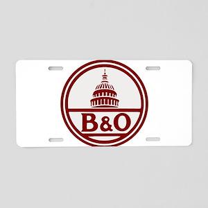 B&O railroad design Aluminum License Plate