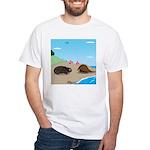 Porcupine Meets Horseshoe Crab White T-Shirt