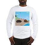 Porcupine Meets Horseshoe Crab Long Sleeve T-Shirt
