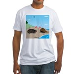 Porcupine Meets Horseshoe Crab Fitted T-Shirt