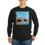 Porcupine Meets Horseshoe Crab Long Sleeve Dark T-