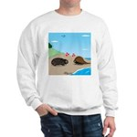 Porcupine Meets Horseshoe Crab Sweatshirt
