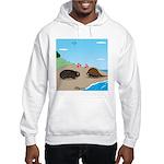 Porcupine Meets Horseshoe Crab Hooded Sweatshirt