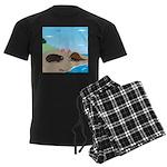 Porcupine Meets Horseshoe Crab Men's Dark Pajamas