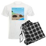Porcupine Meets Horseshoe Crab Men's Light Pajamas