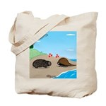 Porcupine Meets Horseshoe Crab Tote Bag