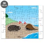 Porcupine Meets Horseshoe Crab Puzzle