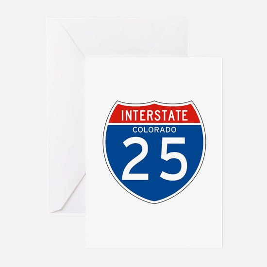 Interstate 25 - CO Greeting Cards (Pk of 10)
