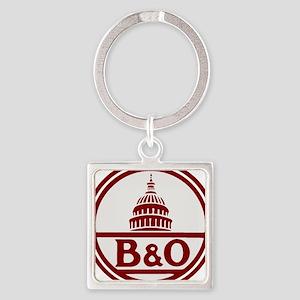 B&O railroad design Keychains