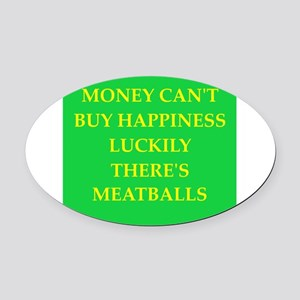 meatballs Oval Car Magnet