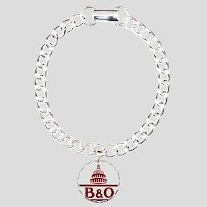 B&O railroad design Charm Bracelet, One Charm
