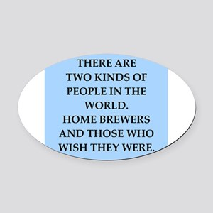 home brewer Oval Car Magnet