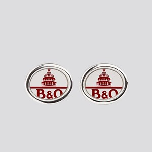 B&O railroad design Oval Cufflinks